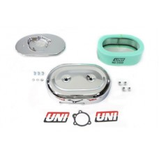 Chrome Oval Air Cleaner Assembly 34-0924