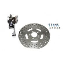 Chrome Rear Single Piston Caliper and 11-1/2