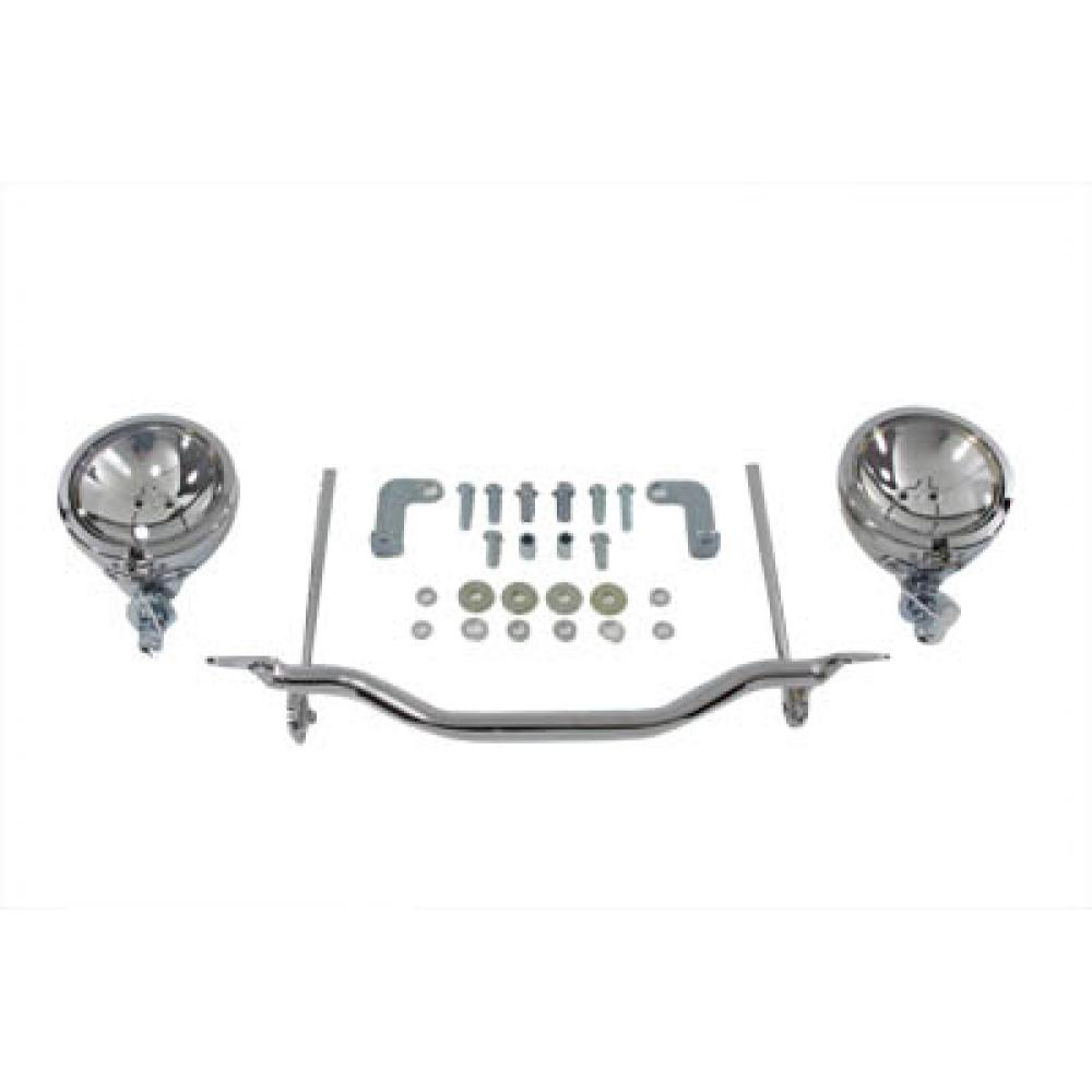Chrome Spotlamp Assembly Set,for Harley Davidson,by V-Twin