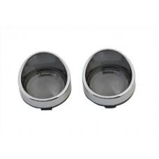 Chrome Turn Signal Bezel Smoke Lens 33-1273