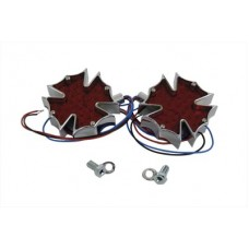 Firefighter Marker Lamp Set with Red Lens 33-0874