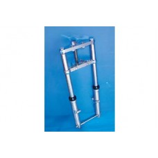 Fork Assembly with Chrome Sliders Stock Length 24-0598