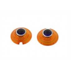Marker Lamp Lens Amber with Blue Dot Bullet Style 33-1975