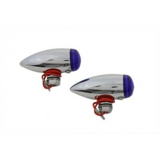 Mini LED Bullet Blue Lens Marker Lamp Set 33-0474
