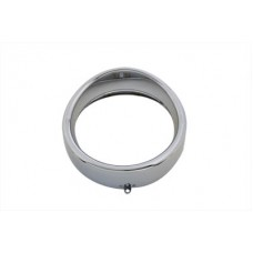 OE Outer Headlamp Trim Rim Frenched Style Chrome with Visor 33-0813