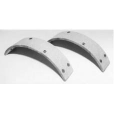 Rear Brake Shoe Linings with Rivets 23-0504