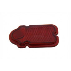 Red Glass Tombstone Tail Lamp Lens 33-0502