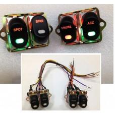 Rocker Style LED Handlebar Switch Kit Black 32-7014