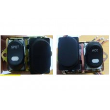 Rocker Style LED Handlebar Switch Kit Black 32-7017
