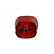 Tail Lamp Lens Laydown Style Red with Blue Dot 33-1160