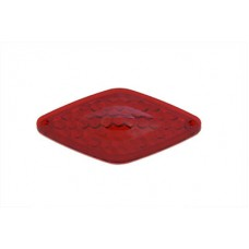 Tail Lamp Lens Only Diamond Style Red 33-2143