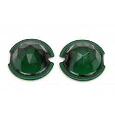 Tail Lamp Lens Set Faceted Green 33-1141