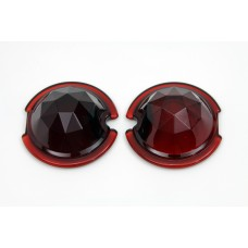 Tail Lamp Lens Set Faceted Red 33-1128