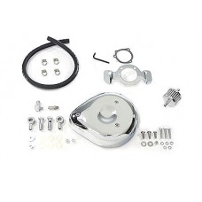 Tear Drop Air Cleaner Kit Smooth Chrome 34-0658