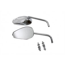 Teardrop Mirror Set with Round Stems, Chrome 34-0164