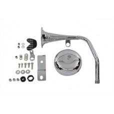 Trumpet Style 12 Volt Chrome Horn Kit 33-0699