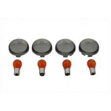 Turn Signal Dome Style Lens Kit Smoked 33-0615
