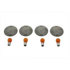 Turn Signal Flat Style Lens Kit Smoked 33-0616