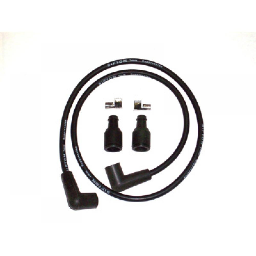 Universal Black 7mm Spark Plug Wire Kit 32 0651 Vital V Twin Cycles Wiring Harness Connector Plugs