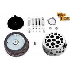 Wyatt Gatling Air Cleaner Kit with Holes 34-1742 | Vital V-Twin Cycles